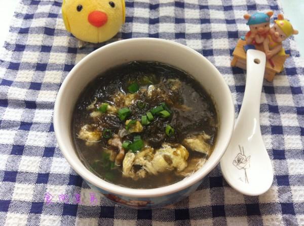 紫菜汤的做法,紫菜鸡蛋肉片汤