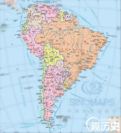 南美有哪些国家,南美--世界史南美地图