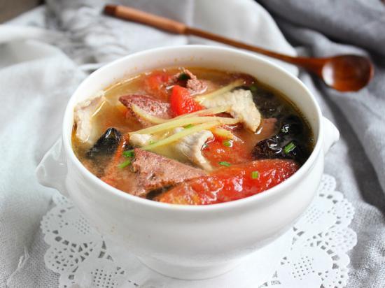 猪肝汤的做法,蕃茄肉片猪肝汤的做法