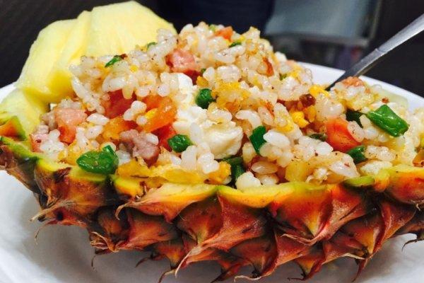 菠萝炒饭的做法,菠萝炒饭(五分钟速成版)的做法步骤