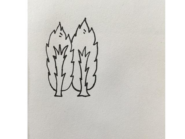 小学生植树简笔画,孩子还在画一种树?简单的简笔树丰富孩子的素材库