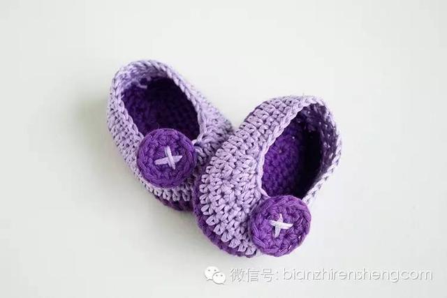婴儿鞋的钩法,适合新手的超简单钩针宝宝鞋教程!