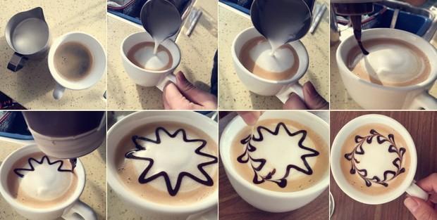 拉花怎么做,简单易学的咖啡拉花