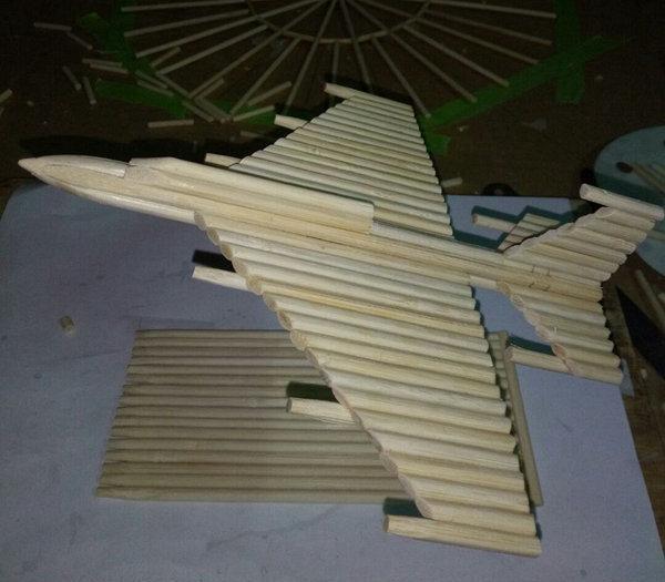 变废为宝怎么做,教你一次性筷子,变废为宝,纯手工打造飞机模型,附制作过程