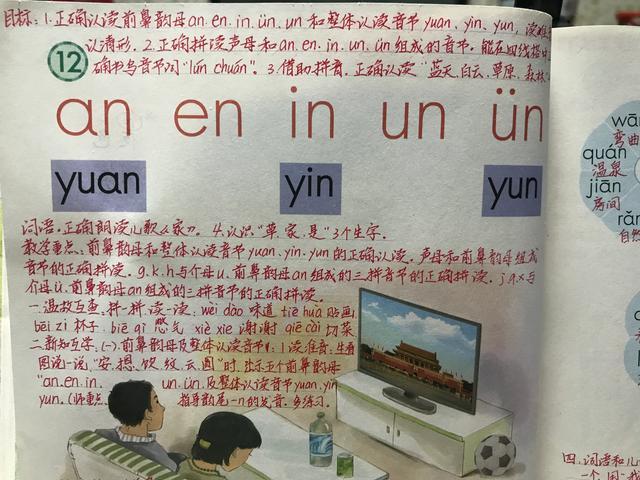 整体认读音节有哪些,前鼻音韵母:an、en、in、un、ün,手写笔记帮你学