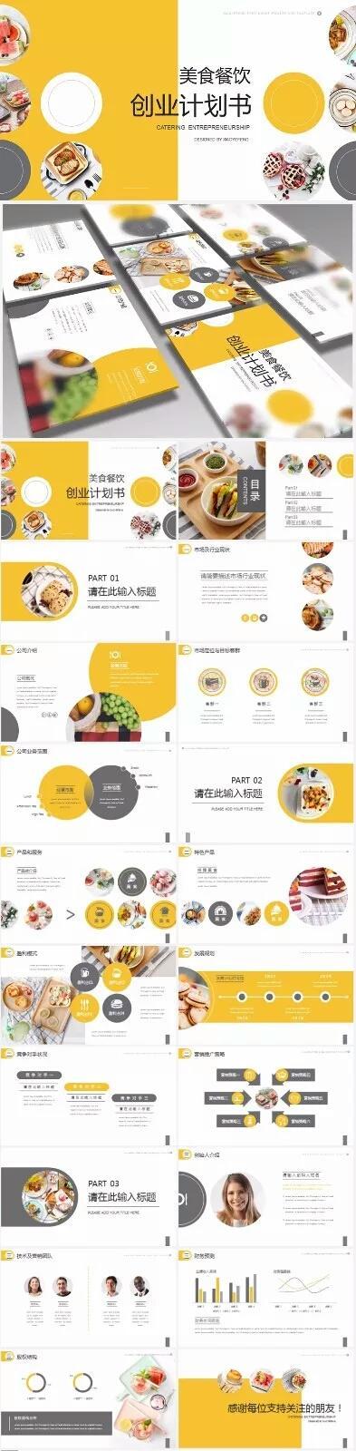 美食的ppt模板,【分享】美食餐饮创业商业计划书菜单菜谱PPT模板