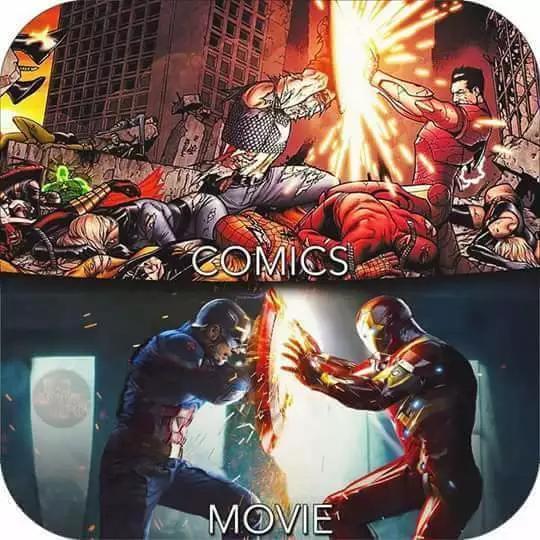 迷妹漫画,这些漫威电影对漫画的还原,你给打几分?