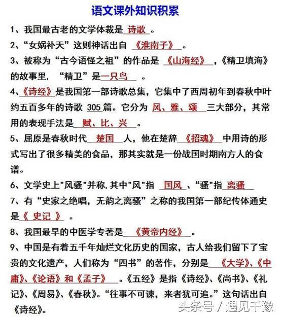 「初中语文」:基础测试题,带答案,家长收好了