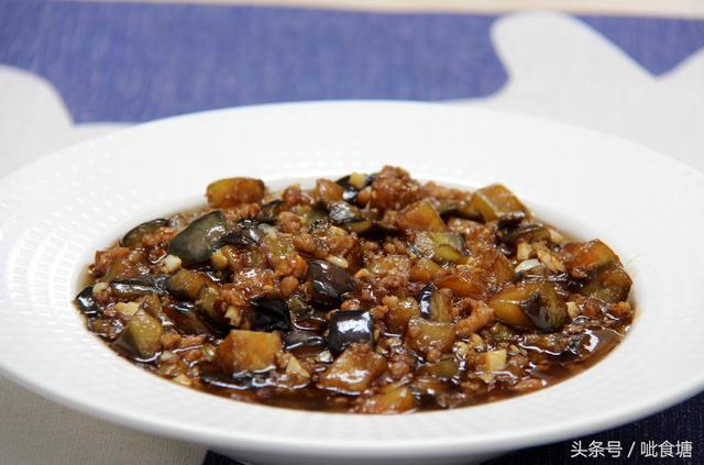 茄子肉末的做法,收藏吧 不过油不加水简单好做又好吃的肉末烧茄子 详细做法和技巧