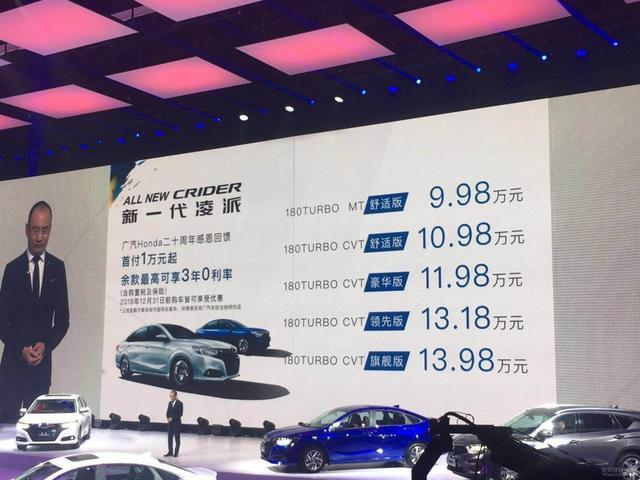 本田汽车报价及图片,全新本田凌派正式上市 售9.98-13.98万元