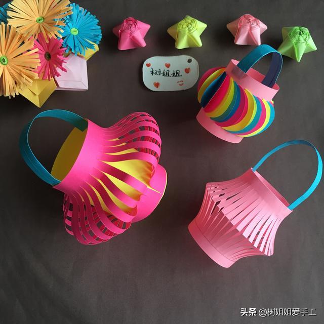 纸灯笼怎么做,装饰折纸:3款简单的灯笼折法,适合3岁以上幼儿