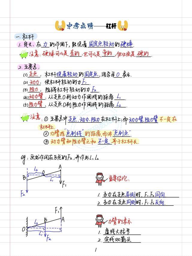 初中物理156页核心笔记,包含力学,电学,电磁学,内能,功等