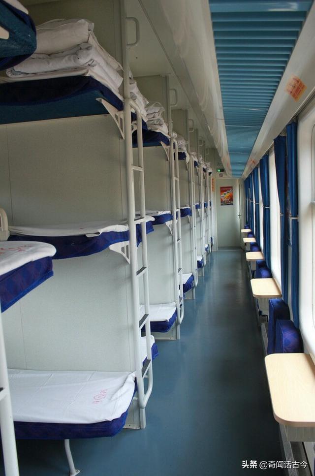 火车硬卧图片,我国火车卧铺一共有五个等级,你坐过哪几种呢?