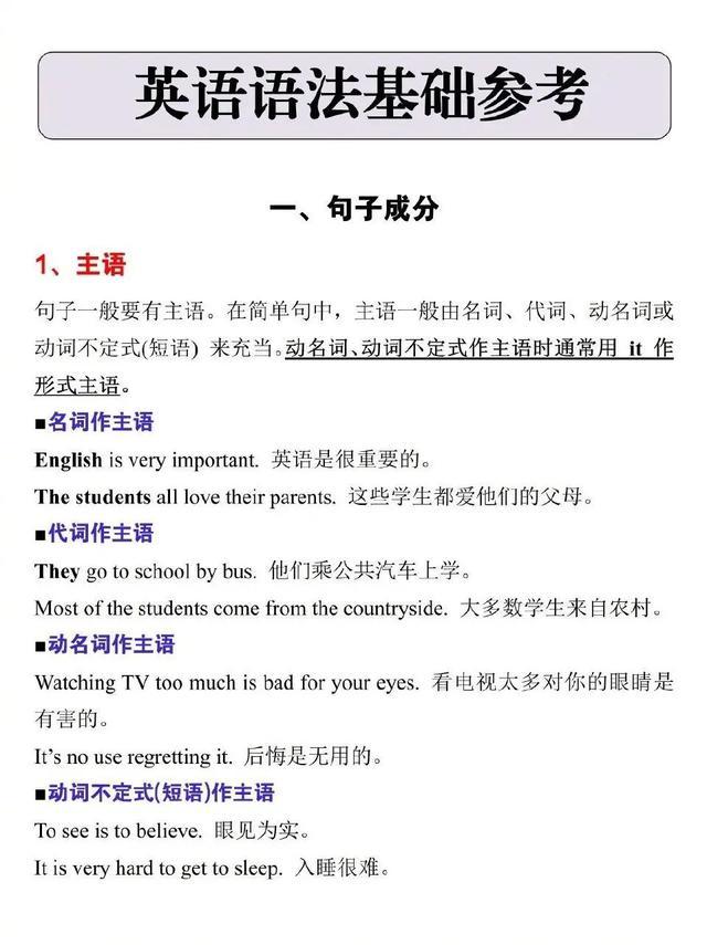 初中英语句型总结