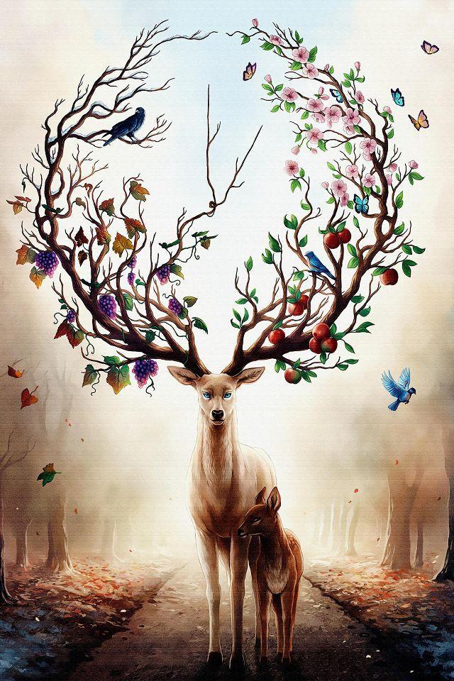 """梅花的象征意义,民间吉祥物""""鹿""""的美好寓意"""