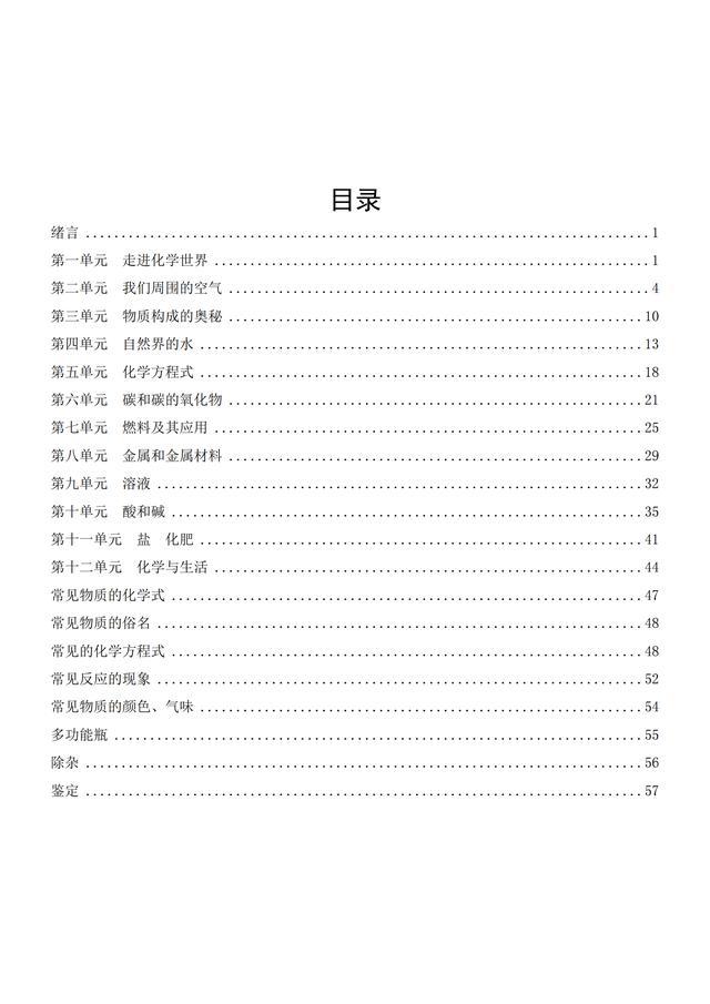 熬夜5天,骨干老师总结初中化学笔记和易错知识内容为57页