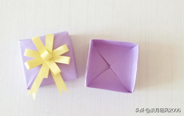 卡纸怎么做,幼儿园亲子手工,卡纸做基本款小盒子,可以当礼品盒,有教程
