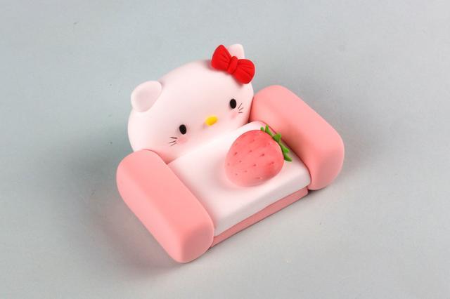 粘土的做法,hello kitty控看这里,超级可爱的小沙发,做法非常简单
