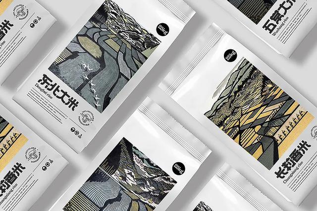 包装印刷,插画风的大米包装设计,怎样突出地方特色?