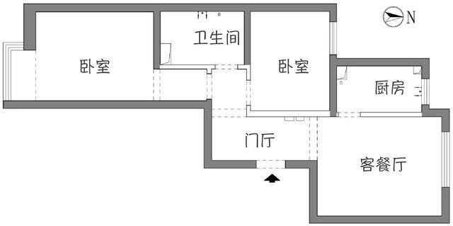衣帽间装修效果图,63平的简约风小户型二居室,卧室里还挤出了衣帽间