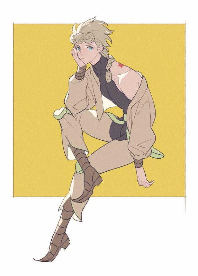 jojo奇妙冒险漫画,画师大佬绘制不一样的JOJO同人,肌肉都没了,样子还挺阴柔