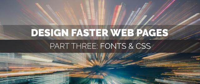 网页设置字体,设计更快的网页(三):字体和 CSS 调整