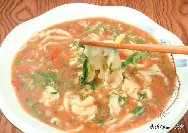 """疙瘩汤的家常做法,不留剩疙瘩,晚上要""""挨打"""",河南特有的疙瘩汤做法,你吃过吗"""
