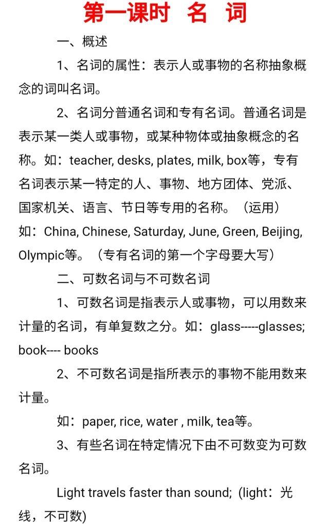 初中英语语法重点难点分析