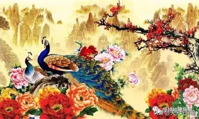 全家福祝福语,百花迎春香满地,万事如意喜临门