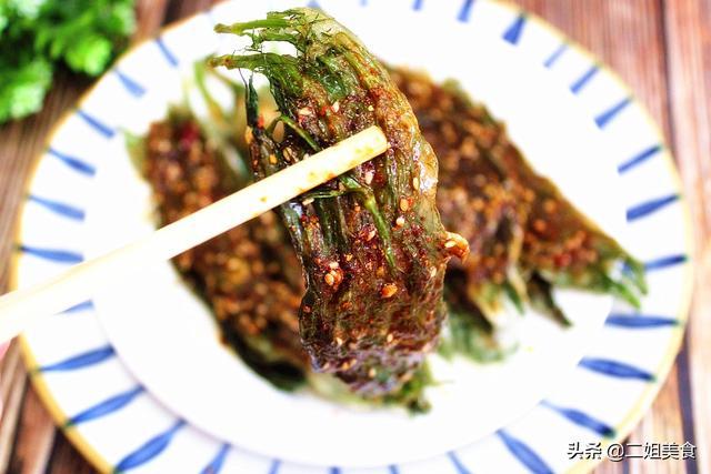 苗香的吃法,茴香这样做,孩子很爱吃,简单一蘸就下锅,比烤肉还香,真解馋