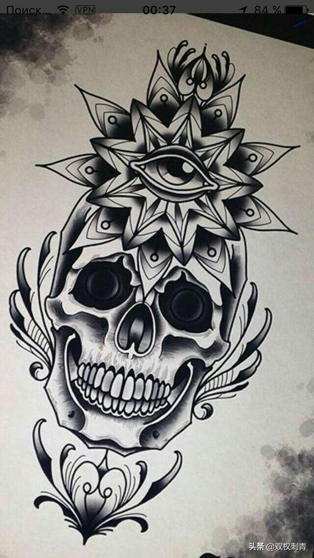 骷髅寓意,骷髅在纹身题材里代表重生
