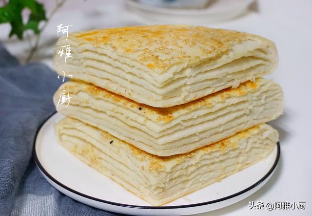 大饼怎么做,自从学会烙饼这做法,孩子都不吃面包了,一层一层揭着吃,真香