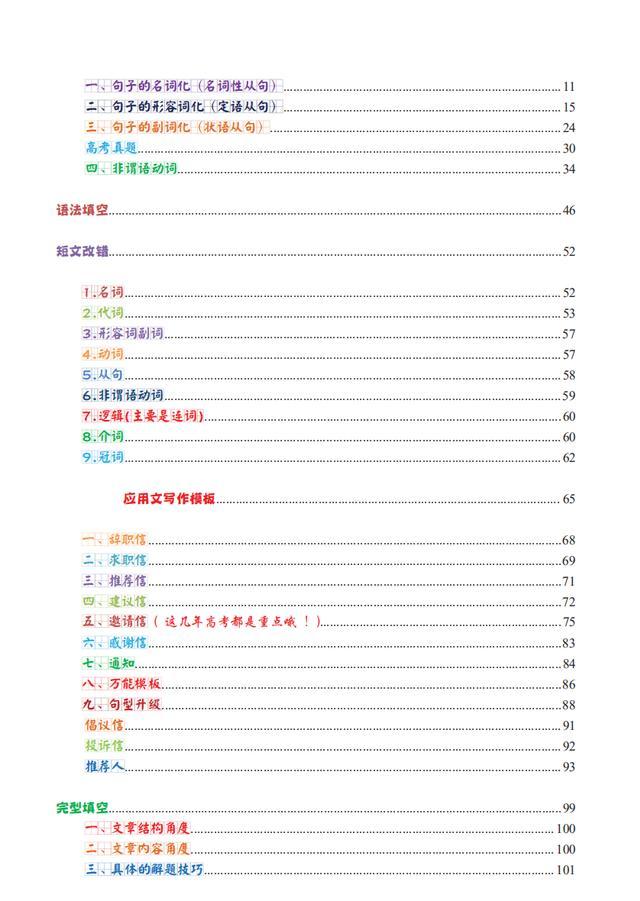 188页!高中英语:超全语法趣味知识笔记,简化学习系列