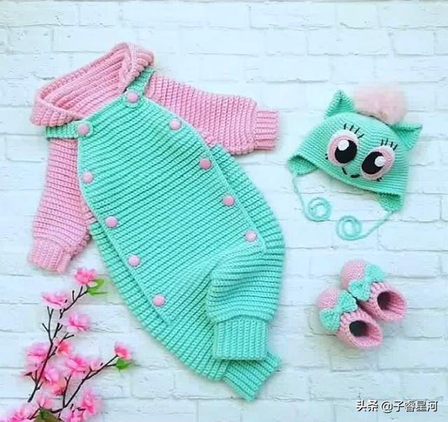 婴儿鞋的织法,我敢说这是最漂亮的宝宝连体衣,喜欢的姐妹快来编织一件!