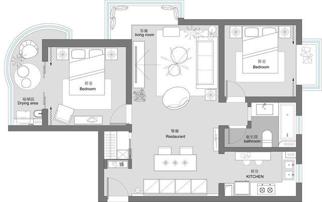 60平的上海两室,设计师用8万元完成软装,超适合年轻的上班族