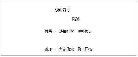 小学语文教案设计,小学语文教学设计《游山西村》