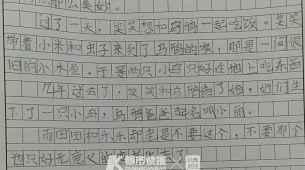 """无意义的,杭州三年级女生写了篇""""扎心""""作文:不要这个,不要那个,只好无意义的变老死去了"""