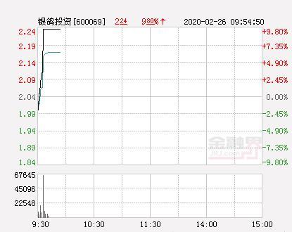 银鸽投资股票,快讯:银鸽投资涨停 报于2.24元