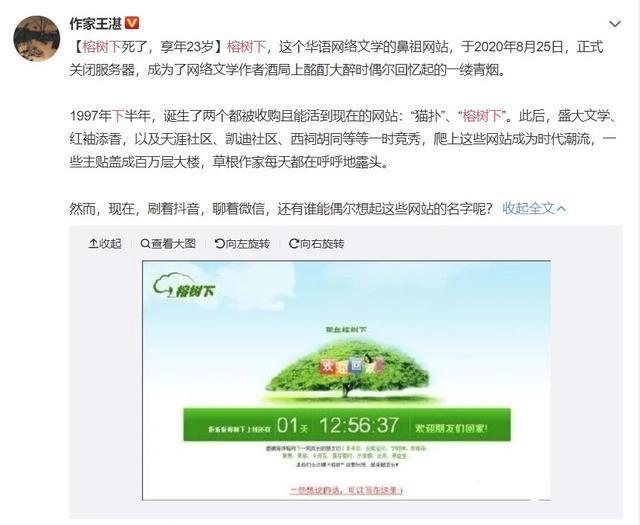 二级网页打不开,华语网络文学鼻祖网站榕树下关闭服务器 享年23岁