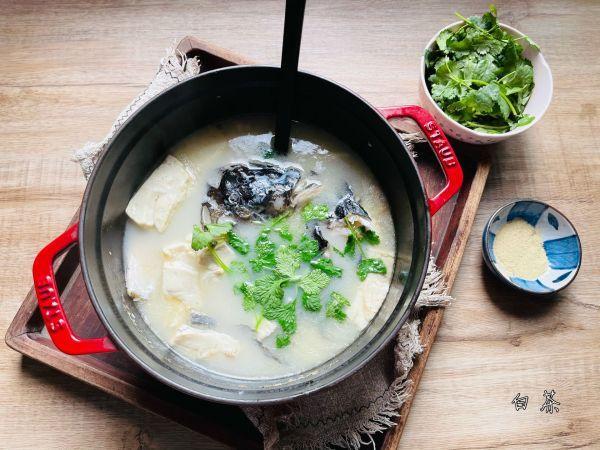 鱼头豆腐汤的做法,#福气年夜菜#汤鲜味美的鱼头豆腐汤