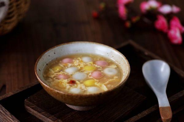 汤圆的做法,#元宵节美食大赏#蛋花酒酿汤圆