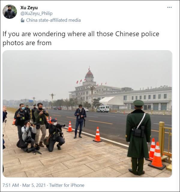 警察图片,新华社记者:西媒一张499美元的中国警察照片,就是这么来的