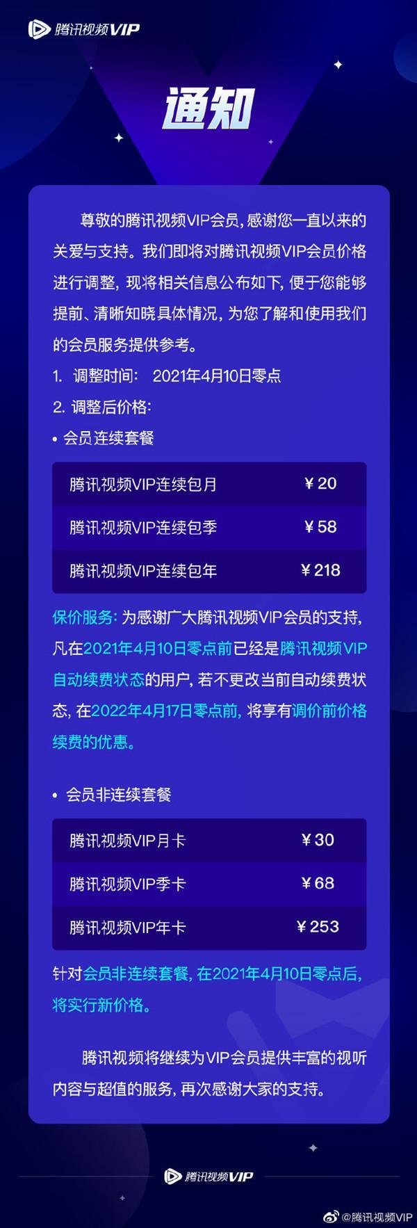 """腾迅视频VIPvip会员价格上涨是笔""""大买卖"""""""