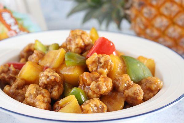 菠萝古老肉的做法,#糖小朵甜蜜控糖秘籍#「菠萝咕咾肉」 酸酸甜甜