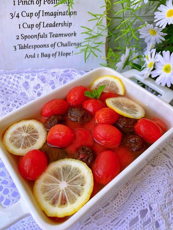 小番茄的吃法大全,解腻神器~酸甜可口的梅渍小番茄~汤汁都不剩