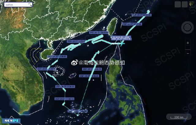 南海战略态势感知:美军机在南海高强度侦察,多机型出动 全球新闻风头榜 第1张