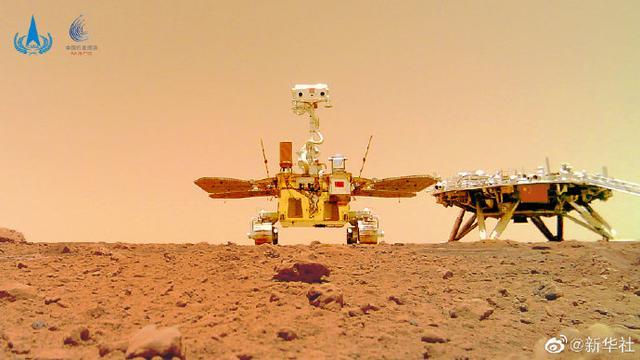 天问一号着陆火星首批科学影像图公布 我国首次火星探测任务取得圆满成功 全球新闻风头榜 第4张