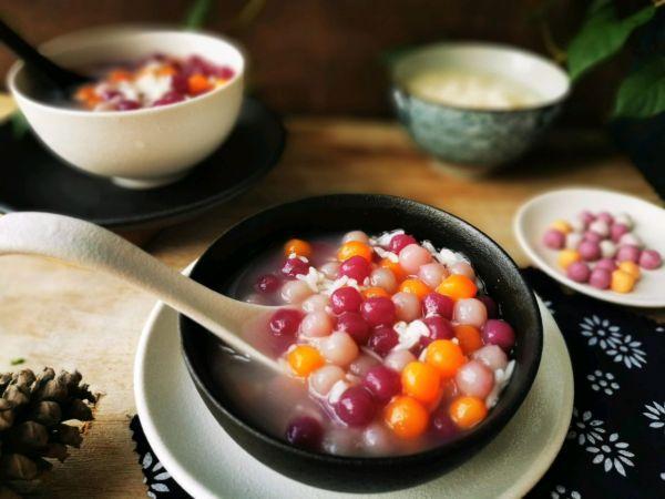 芋圆的做法,#我为奥运出食力#下午茶~缤纷酒酿珍珠芋圆