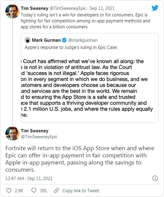 Epic诉苹果App Store案件最终闹得两败俱伤 全球新闻风头榜 第3张