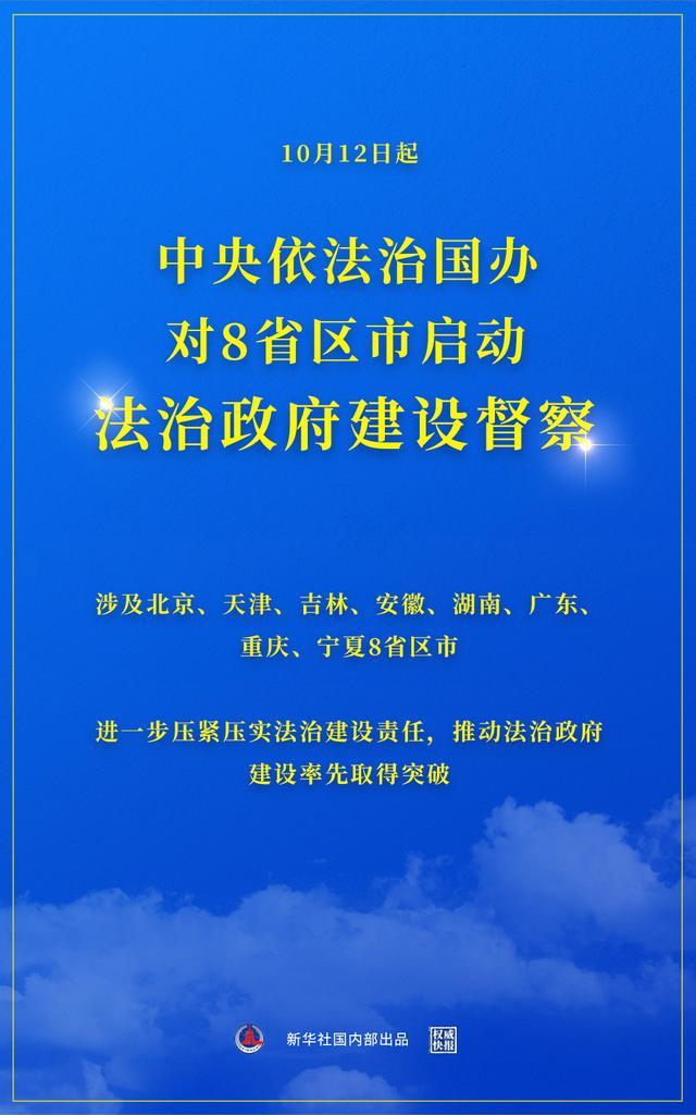 权威快报 中央依法治国办对8省区市启动督察 全球新闻风头榜 第1张